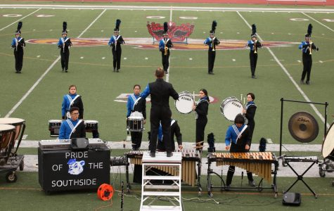 Marching band makes history at area competition